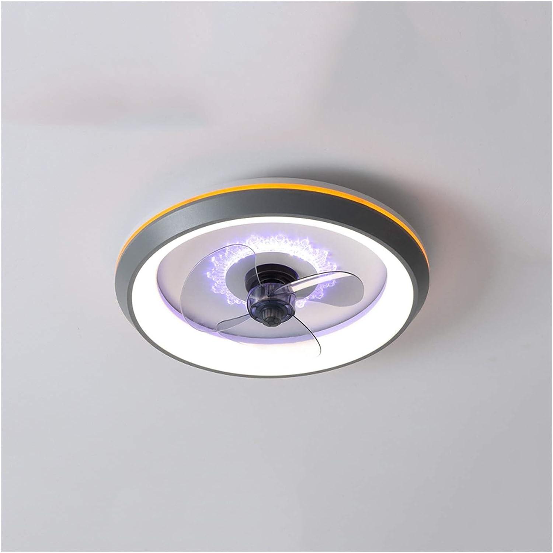 YZERTLH Lamparas de Techo Luz Moderna de Techo con Ventiladores de Dormitorio Restaurante Hogar Invisible Fan Light Simple Modern Niños Fan Light Fan Lights Plafones para Techo (Color : Gray)