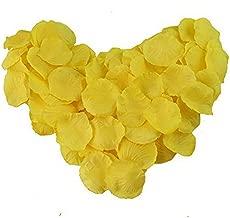 EMAXELER [Broken Girls Flowers]1000pcs Yellow Silk Rose Flower Petals for Wedding Table Confetti Bridal Party Flower Girl Decoration 1000pcs Yellow