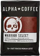 Alpha Coffee - Warrior Select - 16 oz. Premium Gourmet Craft Dark Roast Whole Coffee Beans | Veteran Owned - Specialty Sma...