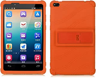Lenovo TAB 4 8 Case Kids - Light Weight Shock Proof Silicone Cover for Lenovo Tab 4 8 Inch HD Tablet 2017 Release,(NOT for TB-8304F or Plus Model TB-8704) (Orange)