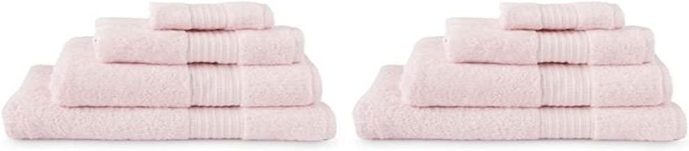 Ralph Lauren Greenwich Seashell Pink Bath Towel Set 6 Piece 2 Bath Towels, 2 Hand Towels, 2 Wash Cloths (Seashell Pink)