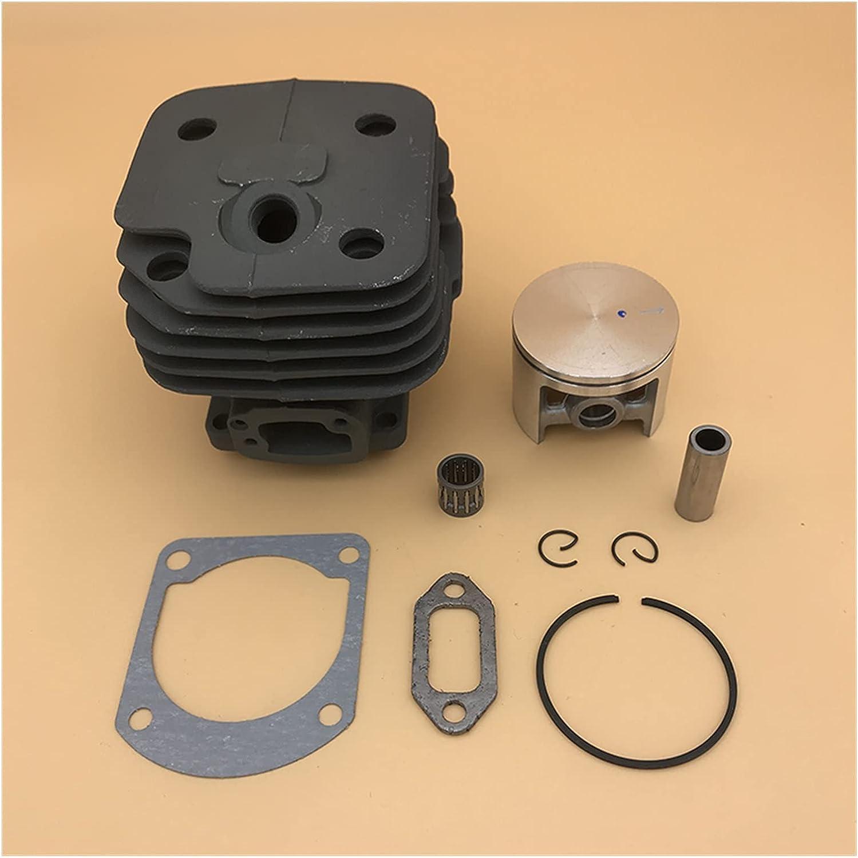 XINYE wuxinye Conjunto de pistón de Cilindro de 48 mm 50 mm 52mm Fit para Husqvarna 61 268 272 272K 2722XP Motor de Motosierra de Gasolina Partes del Motor 503758172 (Size : HUS61 48MM)