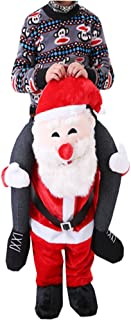 Halloween Carry Ride On Me Piggy Back Shoulder Adult Santa Claus Mascot Costume Fancy Dress
