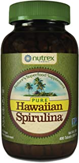 Pure Hawaiian Spirulina - 500 mg Tablets 400 Count - Farm Grown in Hawaii since 1984 - Natural, Nutrient Rich Superfood - ...