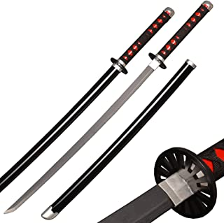 Afdfad Demon Slayer Cosplay Wood Sword,Weapon Sword Accessory,Anime Fans' Collections