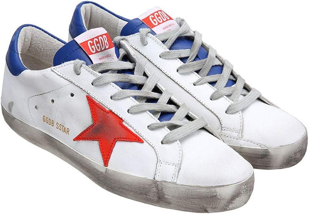 Golden Goose Donna Casual Sneakers Antiscivolo Accogliente GGDB Scarpe In Pelle Low Top Rosso E Blu