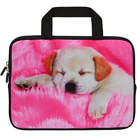 """Pink Dog 15""""-15.6"""" Inch Laptop Sleeve Case Protective Bag with Outside Handle, Ultrabook Notebook Carrying Case Handbag For 14"""" 15"""" Lenovo Dell Toshiba HP Chromebook ASUS Acer"""