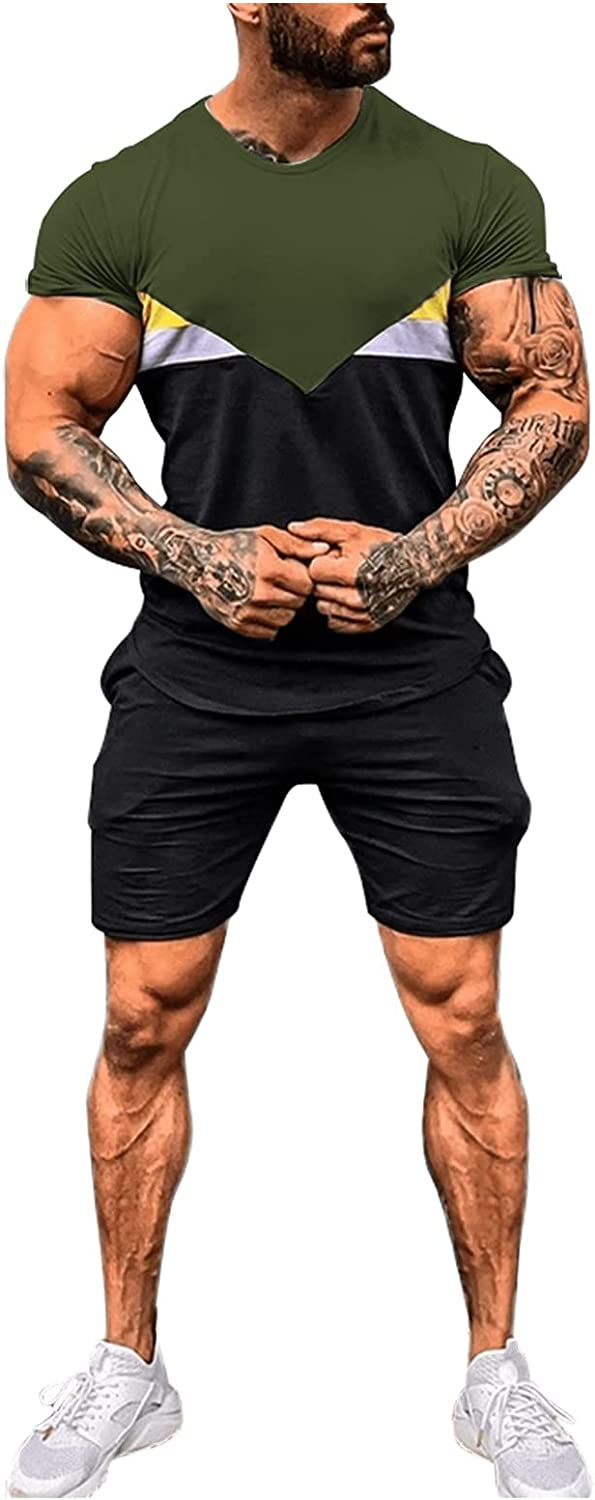 men's At the price summer tracksuit gym running out Ultra-Cheap Deals shorts football t-shirt