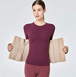 Sports belt, female belt, abdomen artifact, belt girdle, abdomen body shaping belt, postpartum abdomen, natural latex, black and skin (Color : Flesh, Size : XS)