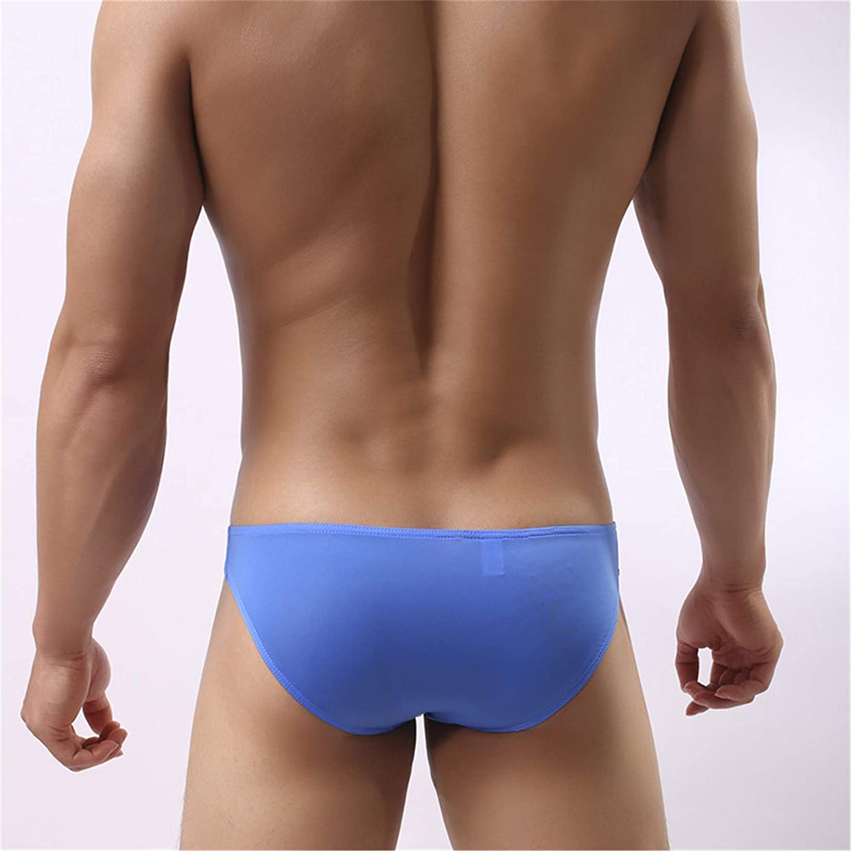 Andongnywell 5 Pack Men's Sexy Elephant Nylon Underwear Briefs Guns Separation Trunks Sexy G-Strings T-Back Briefs