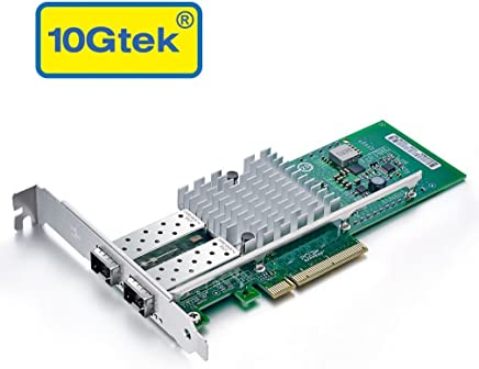 10Gb PCI-E NIC Network Card, for X520-DA2 E10G42BTDA with Intel 82599ES Chip, Dual SFP+ Port, PCI Express Ethernet Lan Adapter Support Windows Server/Linux/VMware
