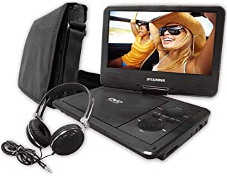 Sylvania SDVD9060-COMBO 9in Swivel-Screen Portable Dvd Player w/ Carry Bag & Headphones (Renewed)
