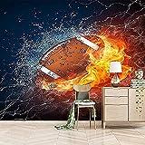 Papier Peint Mural Flame Rugby 3D Poster Geant Mural Photo Sticker Salon Canapé Tv Fond Mur Peinture Fond D'Écran 400x280Cm