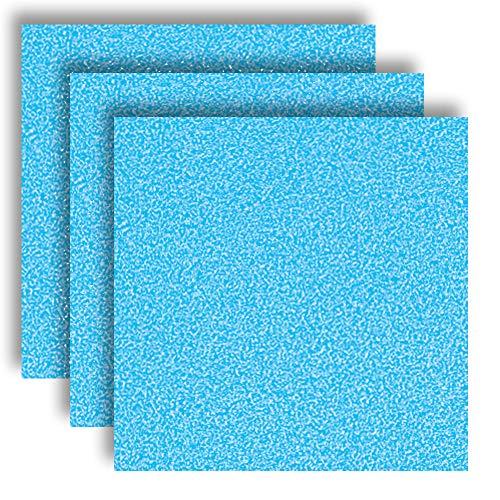 MarpaJansen 566.595-32 Vivelle - Velour-ähnliches Papier - ungummiert - (35 x 50 cm, 10 Bogen, 130 g/m²) - hellblau, Mehrfarbig, One Size
