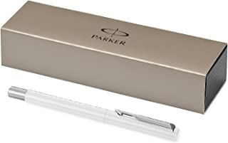 Parker Vector Rollerball Pen with Medium Blue Refill, Gift Box - White