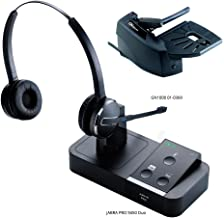 Jabra PRO 9450 Duo Flex Boom Wireless Headset with GN1000 Remote Handset Lifter for Mobile, Deskphone & Softphone