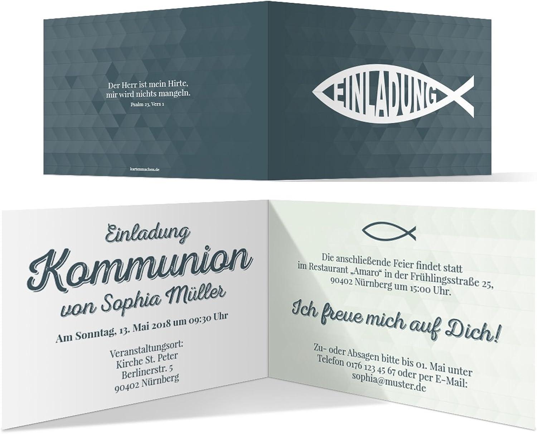 80 x Kommunion Kommunion Kommunion Einladungskarten Kommunionseinladungen Kommunionskarten - Moderner Jesus Fisch B079K2CFM8 | Räumungsverkauf  65b3ab