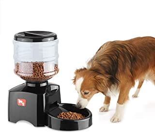 Anself 5.5L Programmable Automatic Pet Feeder, Electric Dry Food Dispenser Dish Bowl 1-3 Meal/Day with Timer & Voice Recording