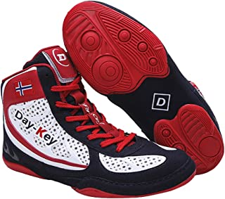 Adult Boxing Shoes, Kids Low Top Fighting Sneakers Breathable Buffer Anti-Skid Wrestling Fitness Trainers