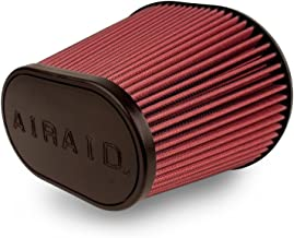 Airaid 720-472 Universal Clamp-On Air Filter: Oval Tapered; 6 in (152 mm) Flange ID; 9 in (229 mm) Height; 10.75 in x 7.75 in (273 mm x 197 mm) Base; 7.25 in x 4.25 in (184 mm x108 mm) Top