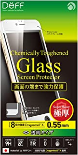 Deff x Asahi Dragontrail High Grade LCD Glass Screen Protector for iPhone 6s / 6 (Full Front / 0.55mm / White)