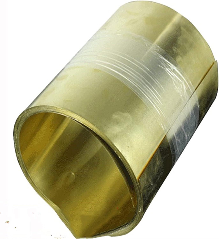 ZHANGM 1PC Brass Metal Thin Sheet Plate 0.1 sale 0.05 quality assurance Thick Foil 0.15