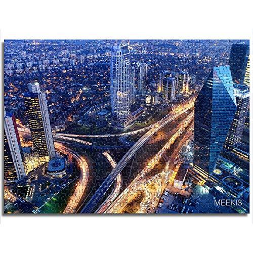 CAFO Módulo de montaje de patrón Vista aérea del Mini rompecabezas de papel de Estambul 1000 piezas