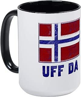 Uff Da Norway Flag Mug - 11oz Coffee Mug, Ceramic 11oz Coffee Cup