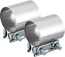"2.5"" Butt Joint Band Clamp Exhaust Sleeve Stainless Steel 2 Pieces"