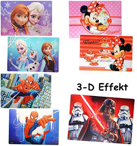 alles-meine.de GmbH 1 Stück _ 3-D Effekt - Unterlage -  Jungen Motiv  - als Platzdeckchen / Tischunterlage / Malunterlage / Eßunterlage / Platzmatte / Knetunterlage - Schule Ge..
