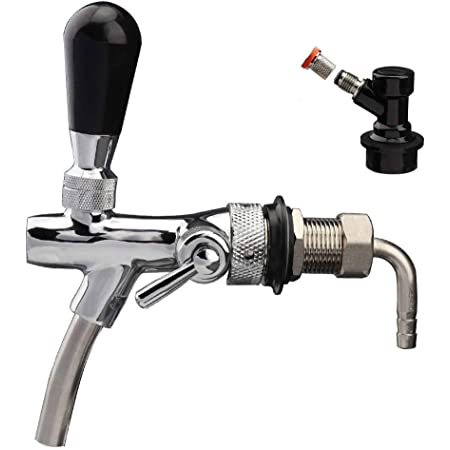 Long Shank Golden Beer Draft Tap faucet With Flow Control Home Brew