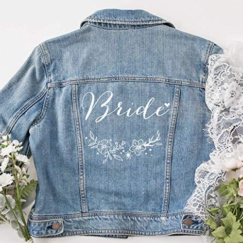 """Jeansjacke """"Bride"""" mit Blumenkranz"""