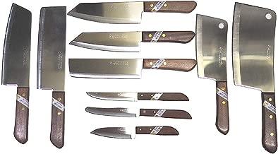 Set of 10 Kitchen Chef's Knives Kiwi Thailand Brand