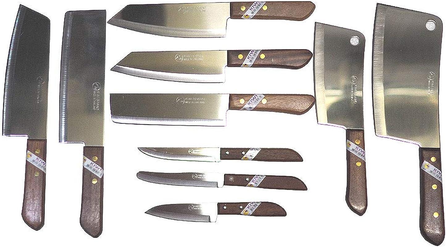 Set Of 10 Kitchen Chef S Knives Kiwi Thailand Brand