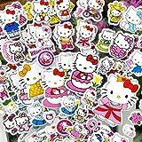 Lanseede Hellokitty - Pegatinas 3D para niños (12 hojas diferentes, 250 pegatinas con diseño de Hello Kitty, obsequios de cumpleaños infantiles y regalos para invitados)