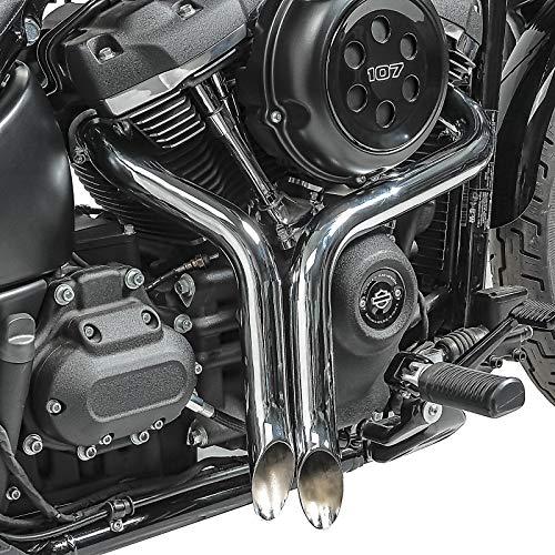 Marmitta Scarico per Harley Davidson Sportster 1200 Roadster XL10CX 17-20 Drag Pipe cromo