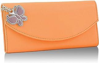 Butterflies Orange Synthetic Women's Wallet (BNS 2270 ORG)