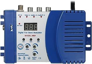KKmoon Modulador compacto de RF Audio Video Convertidor de TV Amplificador de señal UHF RHF AC230V