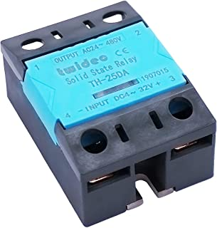 Twidec/ 25A Single Phase SSR Solid State Relay Input DC 4-32V Output AC 24-480V For Machinery Control TH-25DA