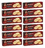 Walkers - Galletas de mantequilla escocesa redondas con mantequilla - 12 x 150 gramos