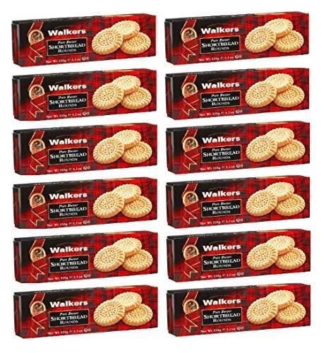 Walkers Biscotti Rotondi Scozzesi di Pasta Frolla al Burro - 12 x 150 Grammi