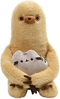 GUND Pusheen with Sloth Plush Stuffed Animal, Set of 2, Multicolor, 13