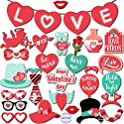 KatchOn Valentines Photo Props and Banner