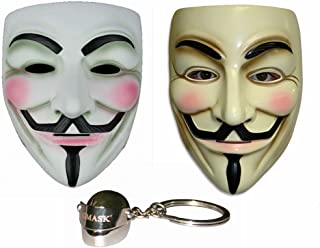 Gmasking V for Vendetta Guy Fawkes Anonymous Mask 2 Pieces+Gmask Keychain