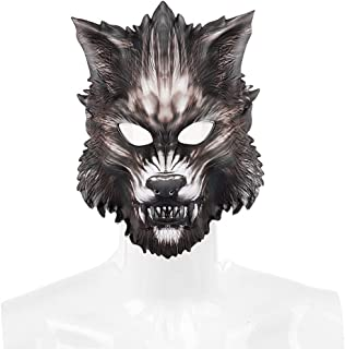 Generic 1pc Wolf Simulation EVA Animal Kids Adult Werewolf for Cosplay Party