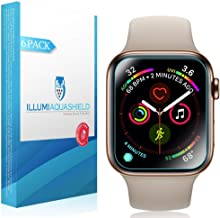 ILLUMI AquaShield Screen Protector Compatible with Apple Watch Series 4 (40mm)(6-Pack)(Easy Install)(Slim Design) No-Bubble High Definition Clear Flexible TPU Film