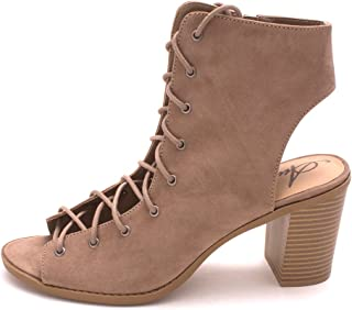 American Rag Womens Savanah Open Toe Ankle Fashion Boots Taupe 8.5 US