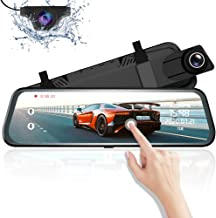 "Mirror Dash Cam for Car, AZDOME 10"" Touch Screen,1080P HD,170 �Wide Angle, Front and Rear Car Camera with WDR, Night Vision, G-Sensor, Lane Departure Warning System,Parking Assistance"