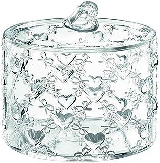 H11 Cm Lovely Set Barattoli Contenitori in Ceramica con Coperchio Ermetico Porta Sale Zucchero caff/è Bianco