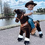 PonyCycle Officiel Classique U Série Balade à Cheval Jouet Animaux en Peluche Animaux promeneurs Cheval Brun foncé pour Les Enfants de 4 à 9 Ans Taille Moyenne U421